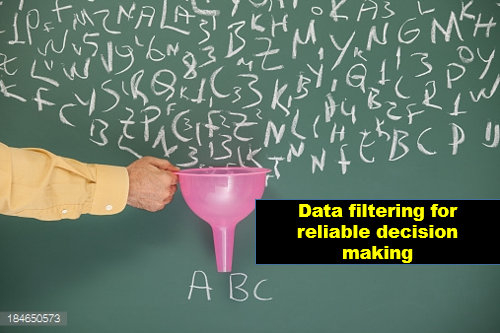Data filtering for reliable decision making. Photo credit: Getty-images